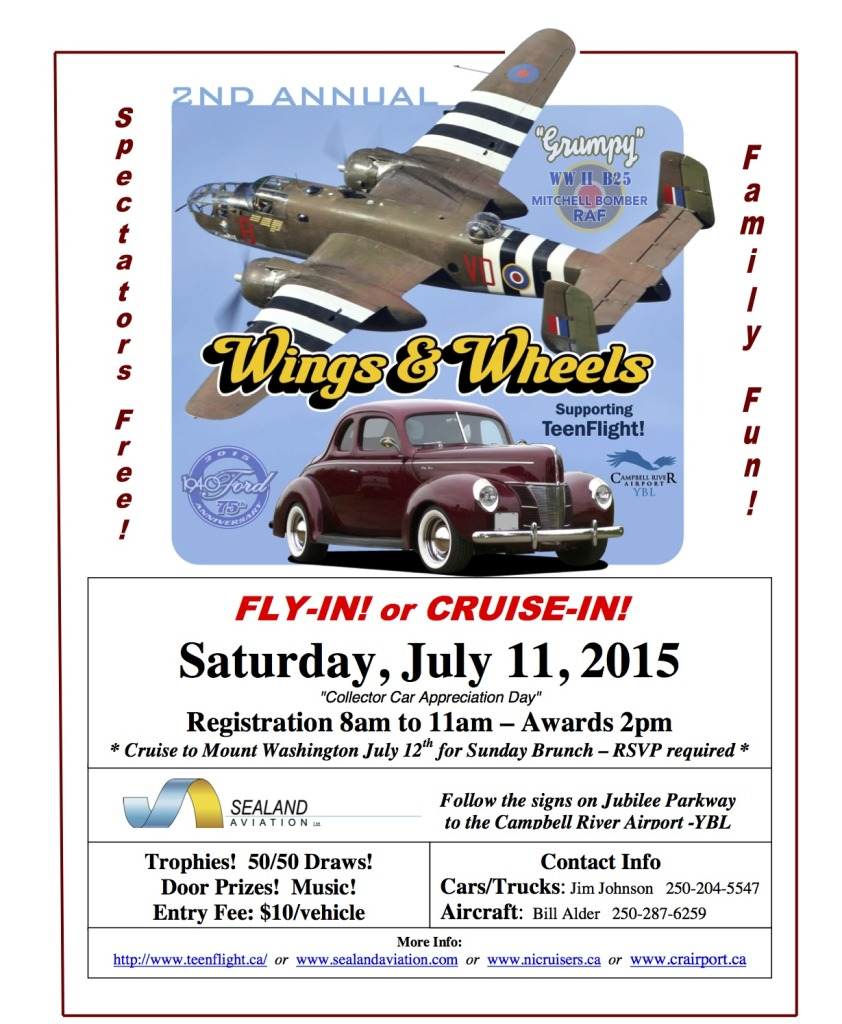 Wings & Wheels 2015 Poster